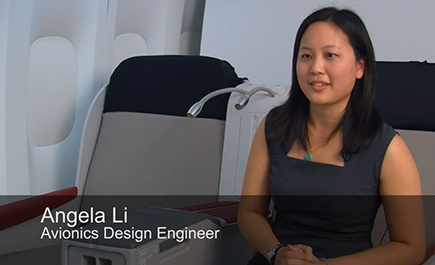 Angelia Li, avionics engineer, is learning the craft of innovation from Boeing mentors